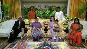 At the Astana Negri Sarawak with His Excellency The Governor of Sarawak Tun Pehin Seri Haji AbdulTaib Mahmud, the First lady Toh Puan Ragghad Kurdi Taib.