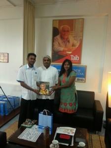 Courtesy visit by head of training Ms Vimala of lnstitute Aminuddin Baki, Ministry of Education, Santubong at my Kuching offive in Jln Wan Alwi, Tabuàn Jaya.
