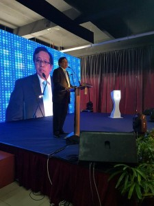 Chief Minister Abang Johari Abang Openg delivering his sppech at the function.