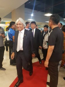 Bank Negara Governor upon his arrival at the function.